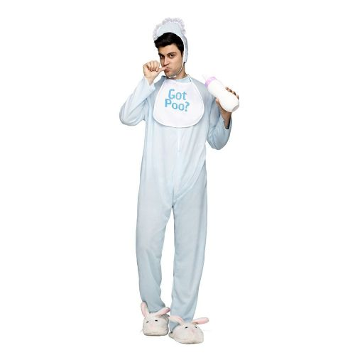 Adults Poopie Jammies Costume for Halloween Fancy Dress Outfit